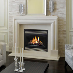 Marble Fireplace Mantels - Avalon - The Avalon marble fireplace mantel exudes contemporary styling with curved lines and straightforward ambiance.  Marble boasts low maintenance, durability and unmatched natural beauty.