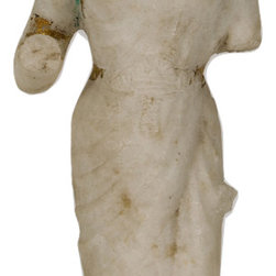 Singh Imports - Consigned Antique Marble Laxmi 1 - This is a 19th century marble carving of Goddess Laxmi. She is Goddess of wealth  and preservation. She is a primary goddess and wife of God Vishnu. She is the power of the universe that preserves and maintain it. She is prosperity and abundance.