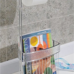 Interdesign - Interdesign 33450 Chrome Rain Magazine Rack and Toilet Paper Holder - 1551-3674 - Shop for Magazine Racks from Hayneedle.com! Give your bathroom a functional upgrade with the versatile Interdesign 33450 Chrome Rain Magazine Rack and Toilet Paper Holder. This holder plays double duty as it keeps your reading materials handy and your tissue within reach. Made of clear plastic resipreme and chromed wire this combo unit adds style to any bathroom. One roll and multiple magazines make it the perfect accent piece when a little personal time is required.About Easy TrackEasy Track is designed to you command your closet like never before. With a single wall-mounted rail and an endless array of cabinets hangers racks and more the Easy Track system let you put everything in its right place. Begin with a starter kit and expand from there. When your needs or space change so does your Easy Track closet system. They're great in closets from the basic to the walk-in and they also provide amazing storage solutions in laundry rooms craft rooms and more. Get Easy Track and see how simple your storage can be.