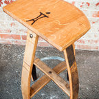 Bar Stools & Chairs - America's New Stool by Vinoture. Reclaimed French oak and exposed bolts give this stool its character. 30 inch seat.
