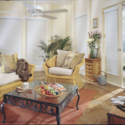 """BlindSaver Allure 2-1/2"""" Wood Alloy Blinds - BlindSaver's 2-1/2"""" Shutter style slats provide classic styling to your home. Available with traditional plantation-style slats and beveled slats, the 2-1/2"""" slats provide a more clear, open view while providing the look of shutters without the hassle. Made to our exacting standards, these composite blinds bring together the beauty of wood and the durability of faux wood for a look sure to please."""