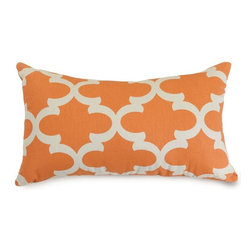 Majestic Home Goods - Peach Trellis Small Pillow - Add a splash of color and a little texture to any room with these plush pillows by Majestic Home Goods. The Majestic Home Goods pillow will instantly lend a comfortable look to your living room, family room or bedroom. Whether you are using them as decor throw pillows or simply for support, Majestic Home Goods pillows are the perfect addition to your home. These throw pillows are woven from Cotton Twill, and filled with Super Loft recycled Polyester Fiber Fill for a comfortable but durable look. Spot clean only.