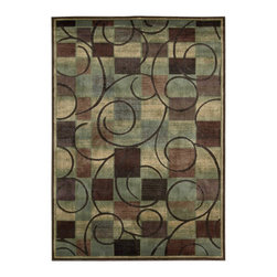 Nourison - Nourison Expressions XP01 Beige Rectangle Rug - Opposites attract when graceful swirls co-mingle with a modern cubist print. The understated color palette of affluent teal, brown, rust, cream, blue and mauve makes an incredibly expensive-looking statement. Stunning hand-carving adds extravagant texture, depth and dimension.Product Measures: 2' width x 2.9' length; 2' width x 5.9' length; 2.3' width x 8' length; 3.6' width x 5.6' length; 5.3' width x 7.5' length; 7.9' width x 10.1' length; 9.6' width x 13.6' lengthManufactured in: Imported    Material: 50% Poly 50% Acrylic