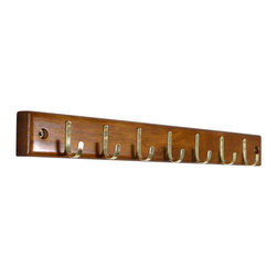 Proman Products - Proman Products Home Essential Belt Hanger Bar in Walnut - Home Essential belt hanger bar in walnut finish. Has 7 belt hooks