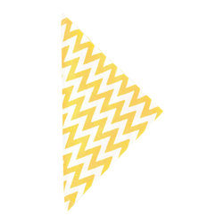 """Pine Cone Hill - PCH Chevron Daffodil Napkin Set of 4 - PCH delivers simple style to the dining table with Chevron cloth napkins. Layer this classic zig zag pattern with table linens in other patterns and colors to create a range of contemporary looks. 22"""" Square; Set of 4; 50% cotton, 50% linen; Designed by Pine Cone Hill, an Annie Selke company; Machine wash, tumble dry low"""