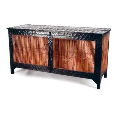 "Eco Friendly Furnture and Lighting - The basket weavers and the furniture makers of the Igorot villages in the Philippines came together with completely recycled materials and constructed a sideboard which literally ""breathes"" as the wood expands and contracts."