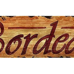 Red Horse Signs - Vintage Signs Bordeaux Wine - Invite  guests  into  your  private  bar  with  rustic  vintage  wine  signs  such  as  this  Bordeaux  design  printed  directly  to  distressed  wood.  Measuring  7  x30  inches  it  makes  a  great  statement  about  your  taste  in  beverages.