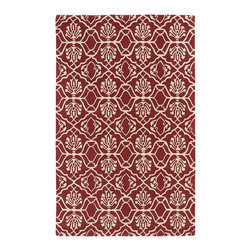 """Kaleen - Kaleen Evolution Collection EVL01-93 2'3"""" x 8' Berry - The Evolution collection completely embraces the history of classic elegance and traditional expertise of Kaleen Rugs, while perfectly capturing the evolving high fashion and hot new trends of today's design. Dramatic patterns showcasing precise attention to details and a unique twist of color will add the perfect addition to your home. Each rug is Hand-Tufted in India with a 100% soft and luxurious wool."""