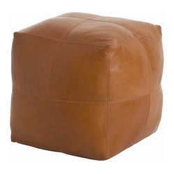 Arteriors Home Amarillo Patchwork Leather/Linen Ottoman 4293