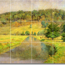 Picture-Tiles, LLC - Gordon Hill Tile Mural By Theodore Steele - * MURAL SIZE: 12.75x17 inch tile mural using (12) 4.25x4.25 ceramic tiles-satin finish.