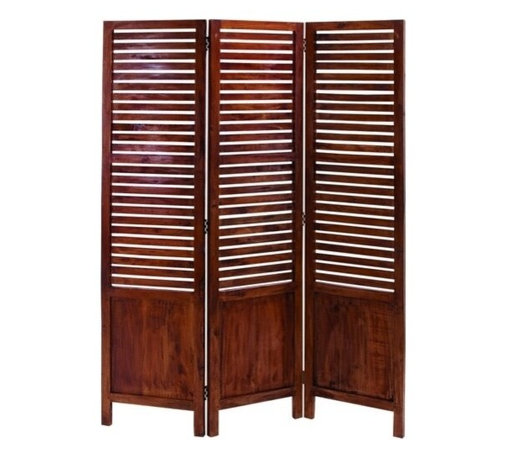 "Benzara - Traditional Wooden Three Panel Screen with Sophisticated Look - Traditional wooden three panel screen with sophisticated look. This wooden three panel screen adds a touch of comfortable homely finish to your room. The materials been into making this lasting piece of furniture will last for a longer period in a durable state. It comes with a dimension of 67"" H x 51"" W x 1"" D."