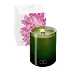 DayNa Decker Chandel Candle - A glamorous, sexy, sweet flower explosion. Notes include citrus, jasmine, tuberose and sandalwood.Inspired by nature, this sophisticated home and body collection is made with the purest of ingredients, fresh essential fragrances and pioneering technologies. Enveloped in beautiful vibrant packaging made of hand-blown glass, recyclable plastics, sustainable woods and post-consumer papers, you'll be inspired to indulge yourself in eco-luxury.Naturally chic. Embellished with a beautiful, hand-blown glass that mirrors nature, this Chandel is filled with DayNa's signature botanical oils and natural wax blend. The proprietary EcoWood Wick adds an organic illumination and soothing cracking sound to enhance any environment. Brand: DAYNA DECKER. Style Name: DayNa Decker Chandel Candle. Style Number: 509730.