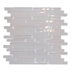 "Tao Icicles Glass Tile - sample-TAO ICICLES 1/4 SHEET GLASS TILES SAMPLE You are purchasing a 1/4 sheet sample measuring approximately 3 "" x 12 "". Samples are intended for color comparison purposes, not installation purposes. -Glass Tiles -"