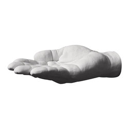 Areaware - Areaware Offer Hand Hook - Harry Allen - Cast from the designer's hand. Offer is a catchall for keys, change, soap, or any small thing that needs an offering hand. Includes wall mounting hardware.