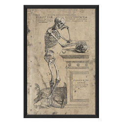 The Artwork Factory - 'Humani Corporis Ossium Cae' Print - Good bones: This handsome, museum quality print makes such a solidly dramatic statement — it'll easily help form the design foundation of your room.