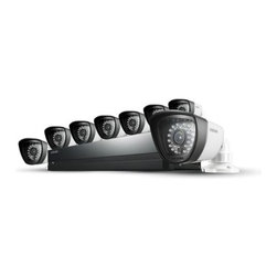 Samsung - Samsung SDS-P3042 4 Channel DVR Security System, 8 Channel - Features: