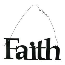Inspirational Word FAITH Wall Hanging Home Decor Metal - This listing is for one inspirational word, FAITH
