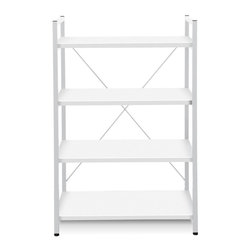 Jesper - Jesper - Tribeca Collection - Bookcase W/ 4 Shelves - White - Jesper Office specializes in making modular office furniture for the home and small business, along with a complementary line of modular library and home entertainment furniture. The company, originally based in Denmark, has been designing and manufacturing high quality furniture since 1935. Today, Jesper Office is based in Branchburg, New Jersey where it maintains a U.S warehouse and sales office along with several manufacturing facilities overseas.