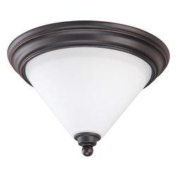 """Nuvo Lighting - Nuvo Lighting 60-1704 Bridgeview 1-Light 11"""" Flush Dome Satin White Glass - Nuvo Lighting 60-1704 Bridgeview 1-Light 11"""" Flush Dome Satin White Glass"""