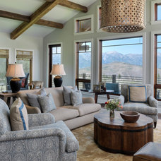 Transitional Living Room by Snake River Interiors