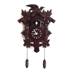 Meridian Point - Black Forest Cuckoo Clock Birdhouse Design - An adorable cuckoo bird comes out of the cuckoo clock and says cuckoo every hour on the hour.