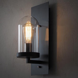 LOFT Industrial Clear Glass Iron Wall Sconce -