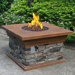 Phat Tommy - Phat Tommy Yosemite Propane Fire Pit - Powered by liquid propane,this fire pit lets you enjoy your fireside relaxation without the nuisance of wood fire smoke. Whether you are enjoying a cool night under the stars with friends or just roasting marshmallows,this fire pit has you covered.