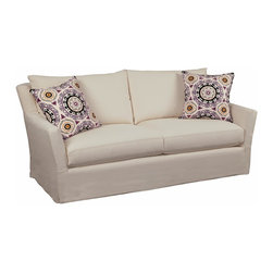 Chelsea Home Furniture - Chelsea Home Zoey Sofa in Montague Cream - Our beautiful slip cover collection is specially crafted with you in mind. We offer a variety of styles with a slipcover over a muslin frame. Our unique slipcover system allows you to change your cover whenever you want. Whether it be a little dirty, a new season, or you are just bored with your current look, we have you covered.