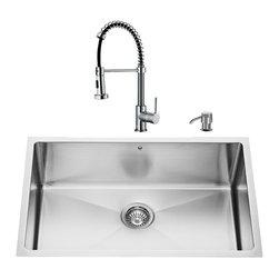 VIGO Industries - VIGO Undermount Stainless Steel Kitchen Sink, Faucet, Grid, Strainer & Dispenser - VIGO keeps your needs in mind when it comes to kitchen essentials.