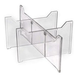 Aberdeen Plastics - Clear Large Shoe Drawer Divider - Allows Large Shoe Drawer to be divided into 2 3 or 6 compartments. Clear Plastic.  Sold individually.