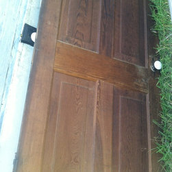 Selma, AL 1890 house deconstruction Everything here is for sale - Antique Heart Pine Door Circa 1890, Donnie Peek