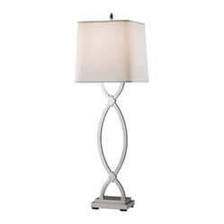 Polished Nickel Lamp