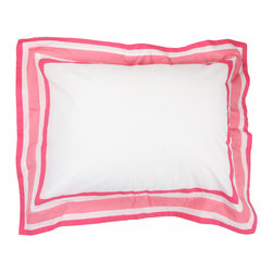 """Simplicity Hot Pink = Standard Pillowcase - Standard pillowcase comes in solid pink and trim in """"Pink Dots"""" cotton print fabrics."""