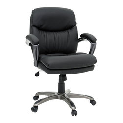 Sauder - Sauder Gruga Duraplush Managers Chair in Black - Sauder - Office Chairs - 410008 - Sure, lots of office and home furnishing manufacturers can help you create an organized, comfortable and fashionable place to live. But Sauder provides a special kind of furniture that is practical and affordable, as well as attractive and enduring. As North America's leading producer of ready-to-assemble furniture, we offer more than 500 items that have won national design awards and generated thousands of letters of gratitude from satisfied consumers.
