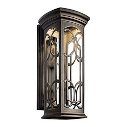 "Kichler - Kichler 49229OZLED Franceasi 25"" Energy Efficient LED Outdoor Wall Light - Kichler 49229 Franceasi LED Outdoor Wall Lantern"
