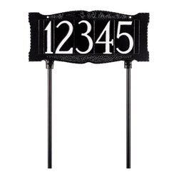 Whitehall - Whitehall Double Sided 4 in. Number Address Sign - 9003AB - Shop for Address Numbers Letters and Plaques from Hayneedle.com! About WhitehallWhitehall is the world's largest manufacturer of weathervanes but the business points a lot more ways than east west north and south. Inspired by traditional handcrafted designs and quality Whitehall also makes gorgeous mailboxes address plaques and outdoor accents. They're based in western Michigan building American tradition and quality into every product they make.