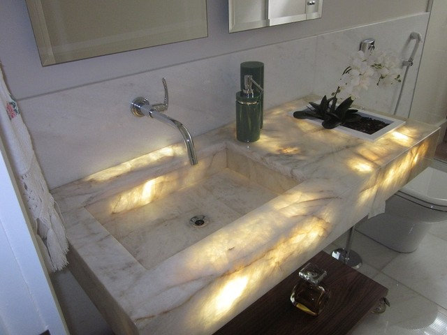 Modern Bathroom Vanities And Sink Consoles by The Stone Gallery