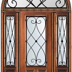 "Prehung Sidelites-Transom Door 96 Wood Mahogany Charleston 2/3 Lite - SKU#    P17662WCH-G-WE823CH1-2HRCHBrand    GlassCraftDoor Type    ExteriorManufacturer Collection    2/3 Lite Entry DoorsDoor Model    CharlestonDoor Material    WoodWoodgrain    MahoganyVeneer    Price    8510Door Size Options      +$percentCore Type    Door Style    Door Lite Style    2/3 LiteDoor Panel Style    2 PanelHome Style Matching    Door Construction    PortobelloPrehanging Options    PrehungPrehung Configuration    Door with Two Sidelites and  Half Round TransomDoor Thickness (Inches)    1.75Glass Thickness (Inches)    Glass Type    Double GlazedGlass Caming    Glass Features    Low-E , TemperedGlass Style    Glass Texture    Water , Flemish , Baroque , Fluted , Rain , Glue Chip , ClearGlass Obscurity    Light Obscurity , Moderate Obscurity , Highest Obscurity , No ObscurityDoor Features    Door Approvals    Wind-load Rated , FSC , TCEQ , AMD , NFRC-IG , IRC , NFRC-Safety GlassDoor Finishes    Door Accessories    Weight (lbs)    913Crating Size    36"" (w)x 108"" (l)x 89"" (h)Lead Time    Slab Doors: 7 Business DaysPrehung:14 Business DaysPrefinished, PreHung:21 Business DaysWarranty    One (1) year limited warranty for all unfinished wood doorsOne (1) year limited warranty for all factory?finished wood doors"