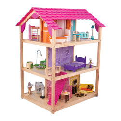 Kidkraft - KidKraft So Chic Dollhouse - Kidkraft - Doll Houses - 65078 - Our So Chic Dollhouse can be played from  all 4 open sides and features an extraordinary amount of detail that every little girl will love!