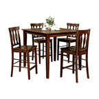 Steve Silver Furniture - Steve Silver Richmond 5-Piece Counter Height Set - The Richmond 5 Piece Counter Height Dining Table Set in Espresso provides a small intimate setting for you, your family, and friends to enjoy.