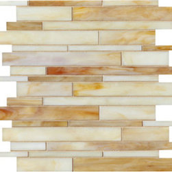 Hushpuppy Toffee Linear Glass Mosaic Tile - Hushpuppy Toffee Linear Glass Mosaic Tile are designed and manufactured for the discerning designer and homeowner. When it comes to adding distinction to your home or design project, choose from our great selection of glass tile, glass mosaics, subway glass tile, vertical glass tile, glass and stainless blends and our linear glass tile. We provide the highest quality glass tile products for all your bathroom and kitchen remodeling needs and all for incredible prices. Visit the links below to find the perfect tile for you and your home!