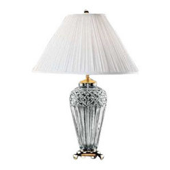 Waterford Belline Table Lamp with White soft pleat coolie shade