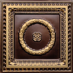 Decorative Ceiling Tiles - Laurel Wreath - Faux Tin Ceiling Tile - #210 - Find copper, tin, aluminum and more styles of real metal ceiling tiles at affordable prices . We carry a huge selection and are always adding new style to our inventory.