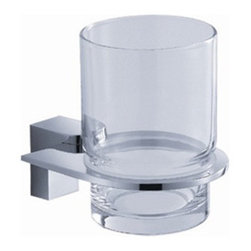 "Fresca - Fresca Generoso Tumbler Holder - Chrome - Dimensions:  3""W x 5""D x 3.75""H. Heavy Duty Brass with Triple Chrome Finish.   All of our Fresca bathroom accessories are made with brass with a triple chrome finish and have been chosen to compliment our other line of products including our vanities, faucets, shower panels and toilets.  They are imported and selected for their modern, cutting edge designs."