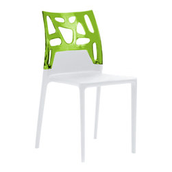 Ego Rock Chair (set of 4) by Plastix / Papatya - At once elegant and playful, the Ego Rock Chair is plastic chair perfection. Great for use both indoors and out, you'll love the attention this gets at any gathering of family and friends.
