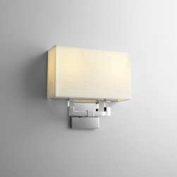 Oxygen Lighting - Oxygen Lighting | Chameleon 2 Light Wall Sconce - Design by Oxygen Lighting.ADA Compliant wall sconce for accent illumination. Available with Incandescent, or Fluorescent lamping options and White Cotton, Matte White Acrylic or White Grass shade.General specifications: