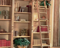 Putnam Custom Order Library Rolling Ladder System - Ignore the background, and just check out the awesome ladder.