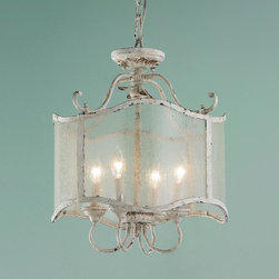 French Cream Iron Lantern -