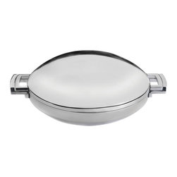 BergHOFF - BergHOFF Neo 14 in. Covered Wok Multicolor - 3501398 - Shop for Woks & Stir Fry Pans from Hayneedle.com! Unique in design the BergHOFF Neo 14 in. Covered Wok is a must-have in the kitchen. Suitable for all heat sources this versatile wok is dish-washer safe as well. The black zinc alloy handles provide a firm secure grip as an added safety measure. A three-layer capsule base makes your cooking faster and energy-efficient. It's constructed of 18/10 stainless steel for durability. Apart from this a mirror finish adds to the visual appeal of this wok.