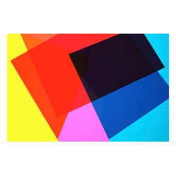 Custom Photo Factory - Still Life Texture of Overlapping Colorful Geometric Shapes Canvas Wall Art - Still Life Texture of Overlapping Colorful Geometric Shapes  Size: 20 Inches x 30 Inches . Ready to Hang on 1.5 Inch Thick Wooden Frame. 30 Day Money Back Guarantee. Made in America-Los Angeles, CA. High Quality, Archival Museum Grade Canvas. Will last 150 Plus Years Without Fading. High quality canvas art print using archival inks and museum grade canvas. Archival quality canvas print will last over 150 years without fading. Canvas reproduction comes in different sizes. Gallery-wrapped style: the entire print is wrapped around 1.5 inch thick wooden frame. We use the highest quality pine wood available. By purchasing this canvas art photo, you agree it's for personal use only and it's not for republication, re-transmission, reproduction or other use.